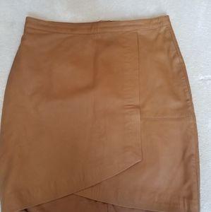 Sara Kelly genuine leather skirt